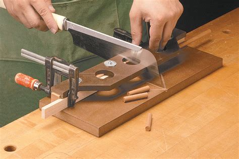 pull  miter box woodworking project woodsmith plans