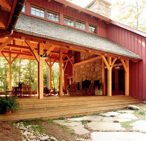 big timberframe dogtrot pole barn homes barn house building  house