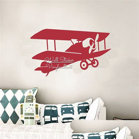 At pine & poem will sell custom home decor, nursery art, and gifts, using the footprints, handprints. Aliexpress.com : Buy Glider Wall Decal Baby Nursery Plane ...