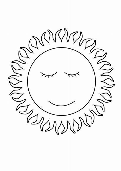 Coloring Pages Sun Summer Sheet Printable Clipartqueen