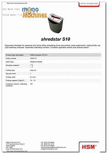 Calameo hsm shredstar s10 strip cut paper shredder specs for Bank of america document shredding