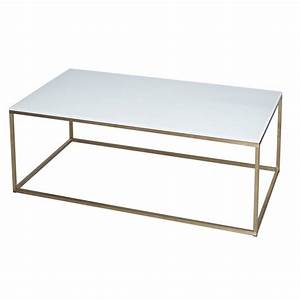 Buy white glass and metal rectangular coffee table from for Glass and metal rectangular coffee table