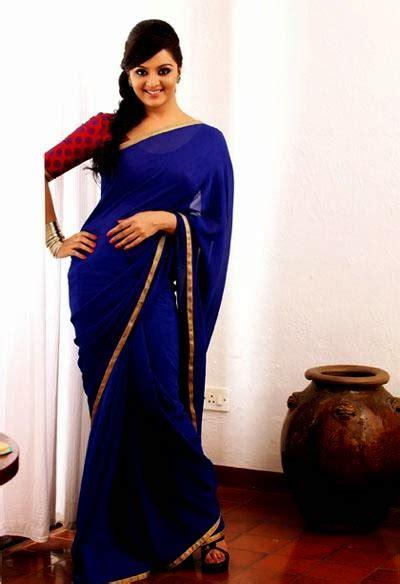 manju warrier saree stylish indian actress saree