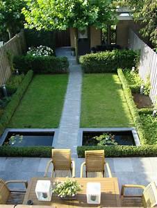 comment amenager une cour comme un jardin With amenagement exterieur terrain en pente 11 avant apras amenager un jardin tout en longueur