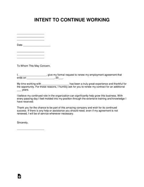 Sample Letter Requesting For Employment Contract Renewal