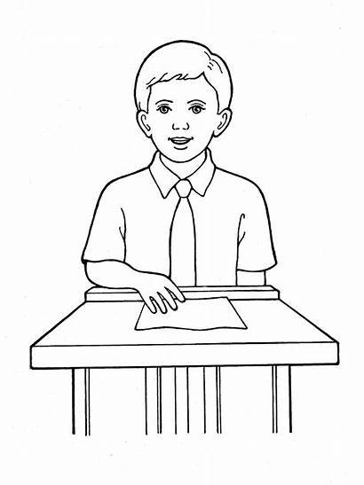 Boy Primary Lds Boys Coloring Pages Speaking