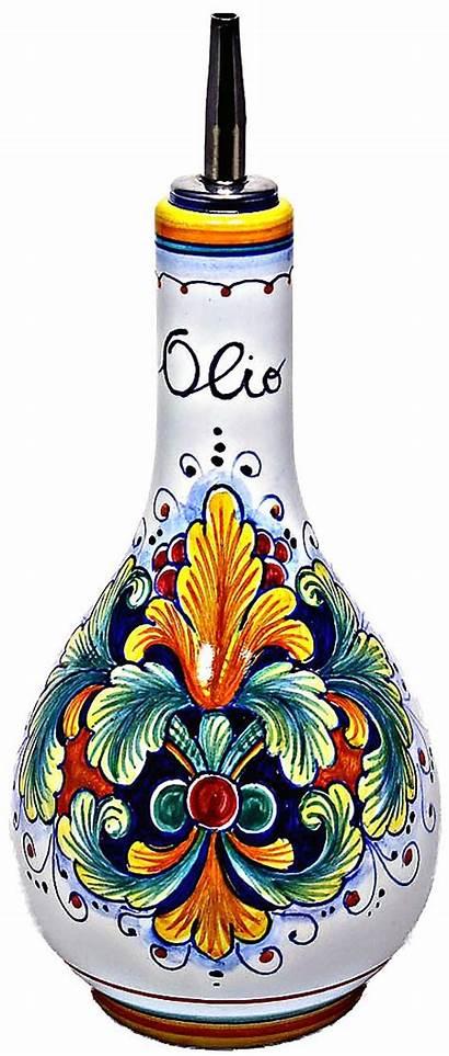 Olive Oil Dispenser Ceramic Italian Ramina 20cm