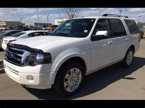 pre owned white  ford expedition wd dr limited flex