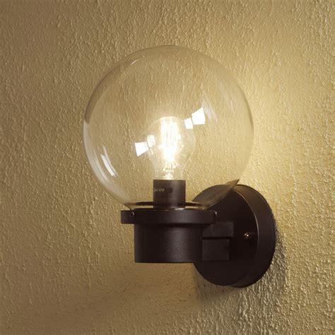 konstsmide nemi globe outdoor wall light with dusk to