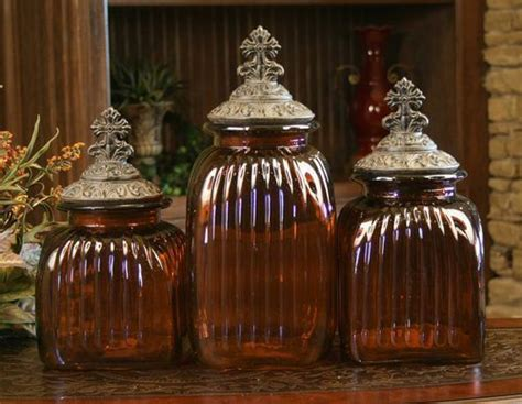 drake design mediterranean glass kitchen canisters food