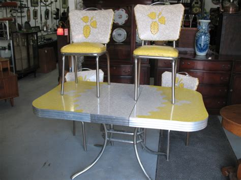 retro kitchen furniture 1950s vintage table and chairs 1950 s chrome and formica