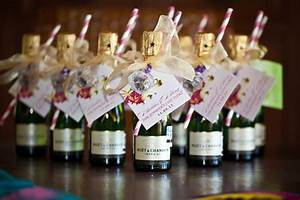 Individual moet champagne bottles bachelorette party for Mini champagne wedding favors
