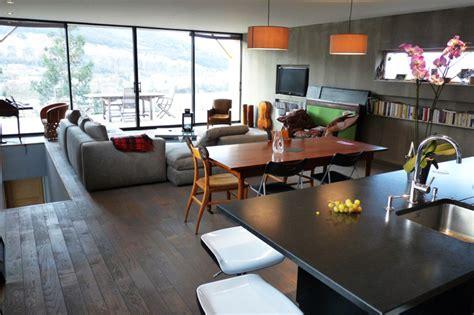 plan salon cuisine sejour salle manger maison design