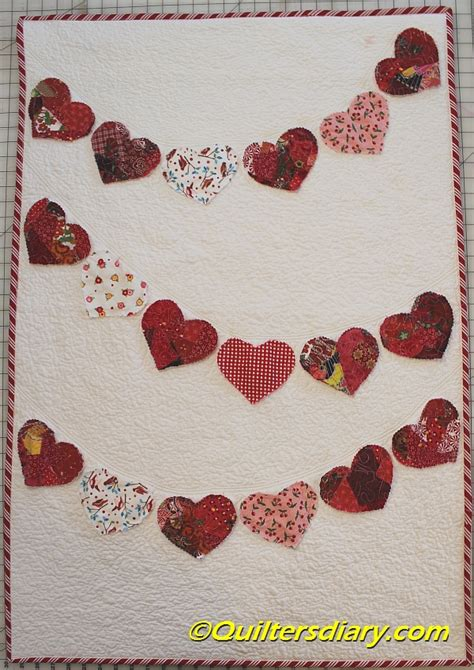 valentine heart garland wall quilt quilters diary