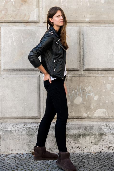 Leather Jacket And Ugg Boots How To Wear Ugg Australia