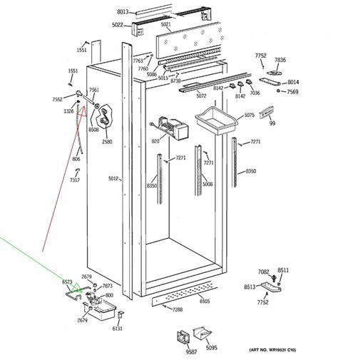 ge monogram refrigeratorfreezer large unit     built  stand