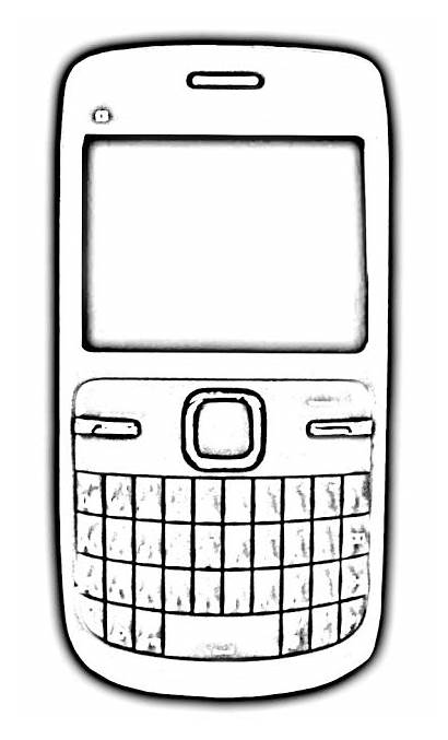 Phone Outline Cell Clipart Mobile Phones Graphic