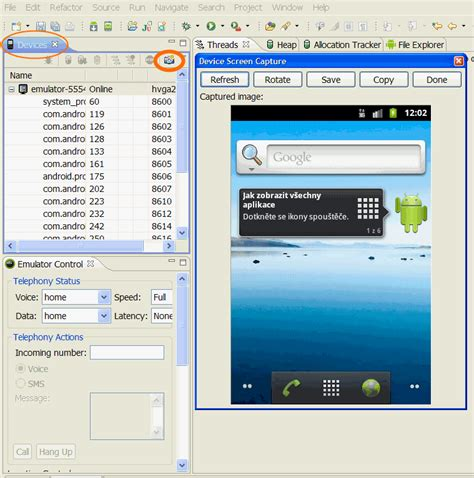 screen capture android how to capture screenshot of emulator window android