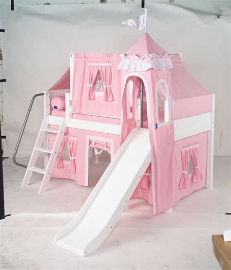 princess bed maxtrix princess castle bed w angled ladder and slide