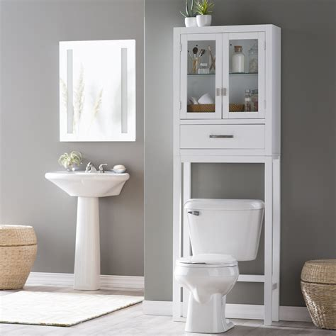 metal over toilet cabinet bathroom interesting toilet etagere for your bathroom