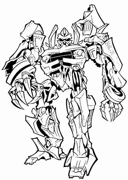 Coloring Transformers Megatron Evil Take Plan Pages
