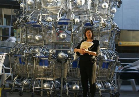shopping cart christmas tree this towering tree is made of 86 shopping carts 1406