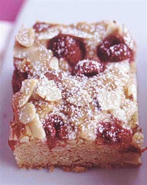 raspberry almond blondies recipe dessert butter