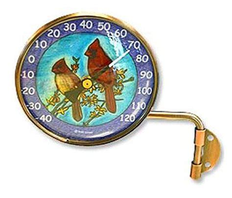pink cloud cardinals wall mount swivel copper dial artful thermometer review pink clouds