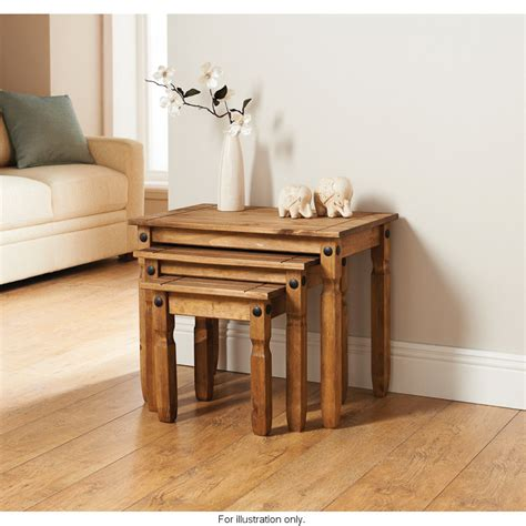 Rio Nest Of 3 Tables  Living Room Furniture  B&m Stores