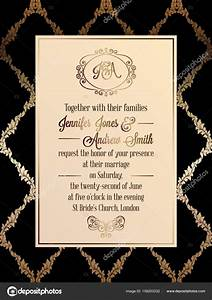 vintage baroque style wedding invitation card template With traditional wedding invitations london