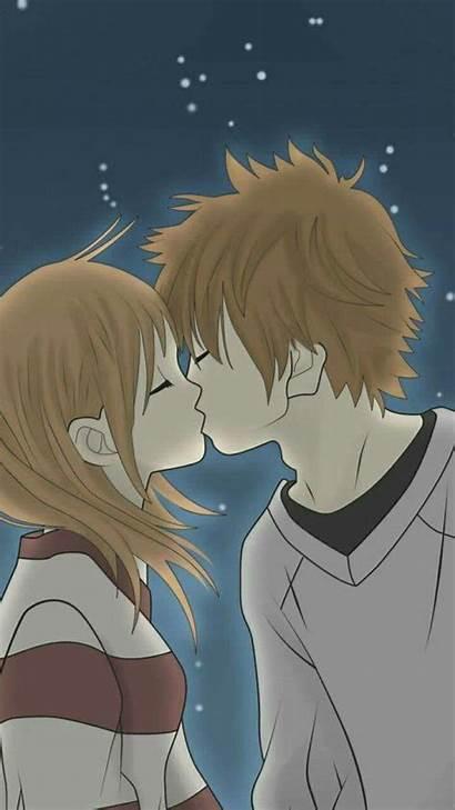 Couples Anime Kiss Wallpapers Zedge Couple Phone