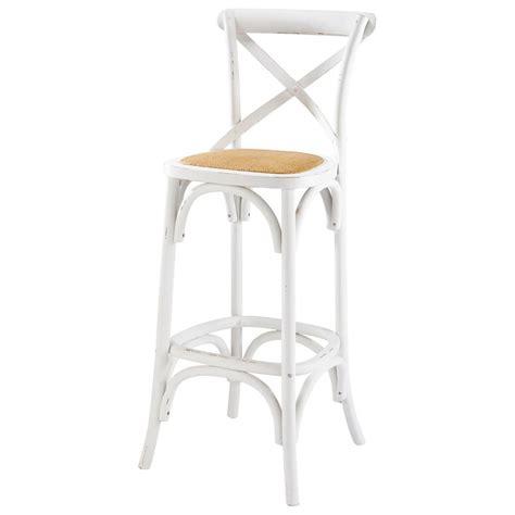 chaise haute en rotin chaise de bar en rotin et bois blanc tradition maisons