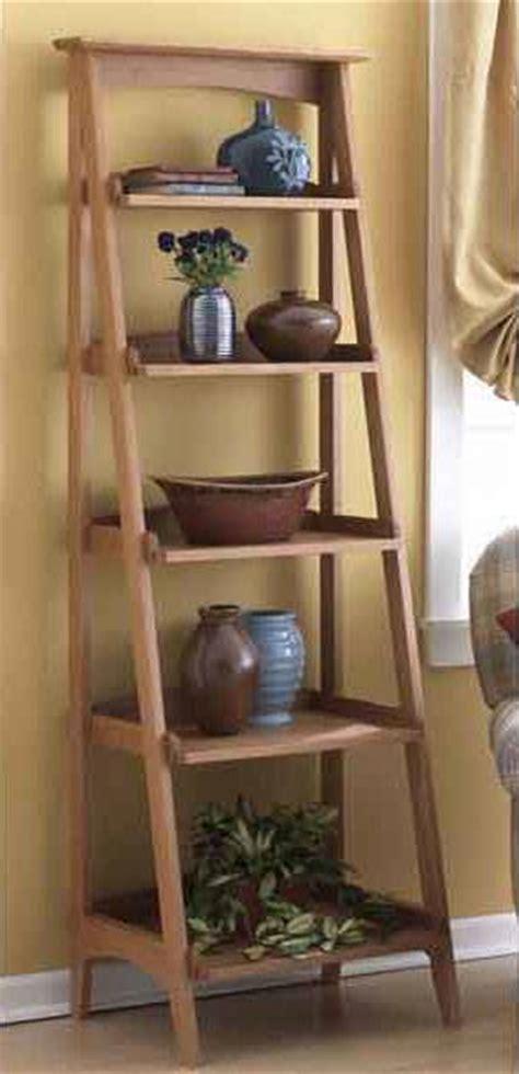 Ladder Bookcase Plans by Ladder Shelves Woodworking Plan Woodworkersworkshop