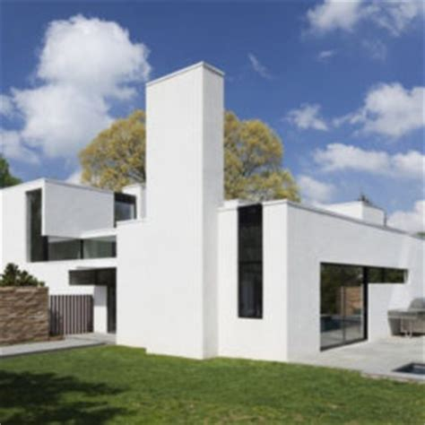 simple contemporary courtyard house plan