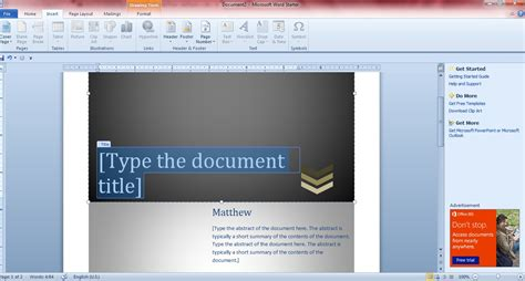 Title Page Template Word 2013 by How To Add Cover Pages To Word 2010 2013 Documents