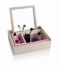 Boite A Bijoux Design : bo te bijoux balsabox personal coiffeuse 42 x 32 cm bois naturel int rieur rose nomess ~ Melissatoandfro.com Idées de Décoration
