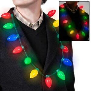 holiday party favors for adults led light up bulb necklace favors for