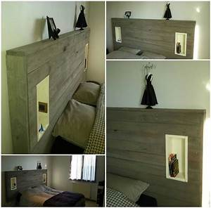 My Pallet Headboard With Lights & Electric Outlet • Pallet