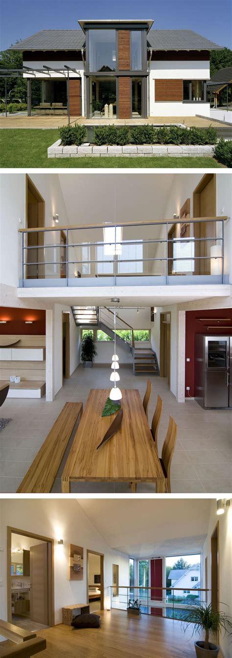 holz auf putz kleben modernes einfamilienhaus mit holz putz fassade