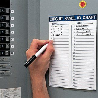 40 electrical panel schedule excel template in 2020 (with images). Circuit Panel ID Chart Kit | Label templates, Templates, Circuit