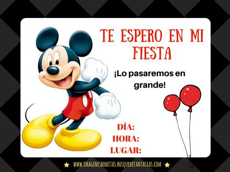 Invitaciones mickey mouse Buscar con Google CUMPLE DE