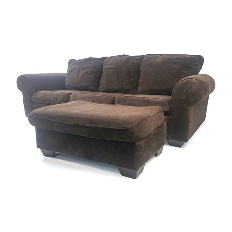 loveseat and ottoman 80 custom plush with ottoman sofas