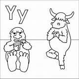 Yeti Coloring Pages Yak Alphabet Yoga Letter Yoghurt Printable Coloringpages4u Sheets Fun Print Letters Coloringpages Colouring Abc Animals Getcoloringpages Getdrawings sketch template