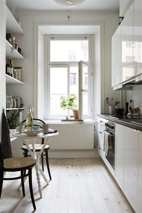 stylish  functional super narrow kitchen design ideas digsdigs