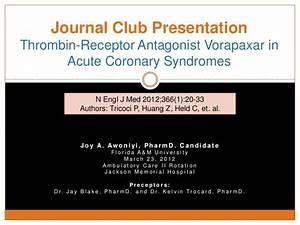 journal club thrombin receptor antagonist vorapaxar in With journal club powerpoint template