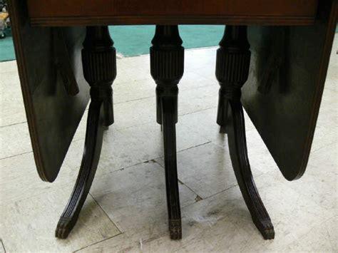 vintage  duncan phyfe drop leaf dining table