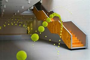 2000 suspended tennis balls appear to bounce through for 2000 suspended tennis balls appear to bounce through mustang art gallery