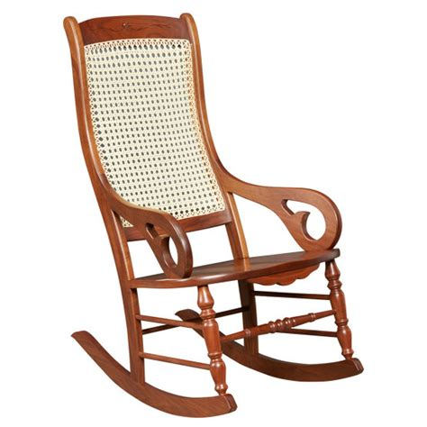 amana wooden seat rocker with carving furniture clock
