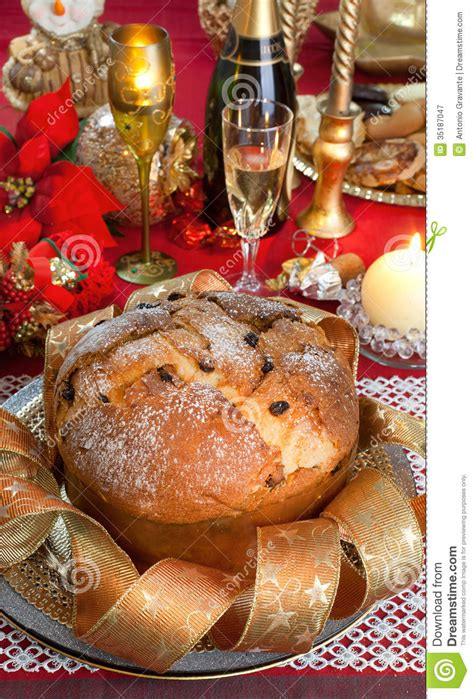 panettone traditional italian christmas cake royalty free