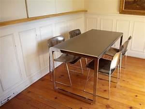 Table Salle à Manger Industrielle : table industrielle de salle a manger style and steel jpg ~ Teatrodelosmanantiales.com Idées de Décoration